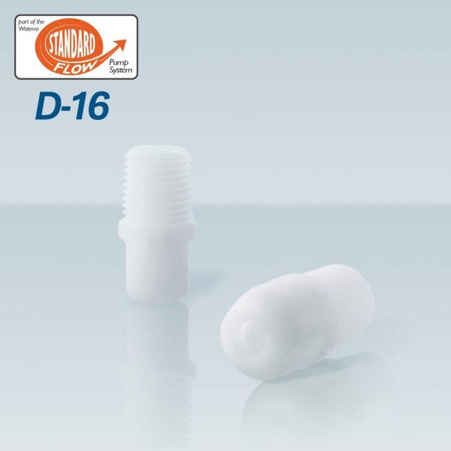 Waterra D-16 Delrin (acetal) Foot Valve pair for sampling groundwater with Waterra Pump Standard Flow Tubing
