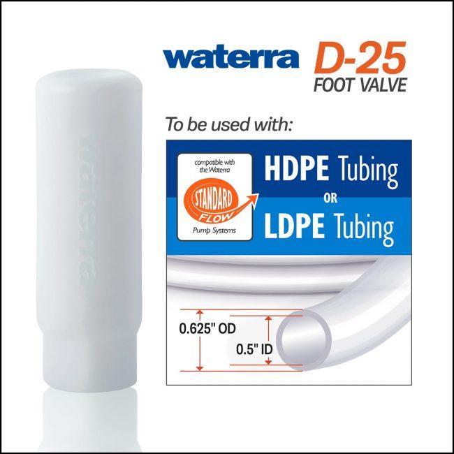 Waterra D-25 Foot Valve – Standard Flow