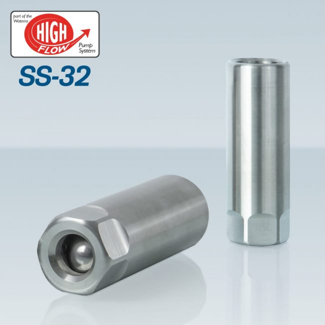 Waterra SS-32 Stainless Steel Foot Valves - pair - with High Flow HDPE and LDPE Tubing for groundwater sampling