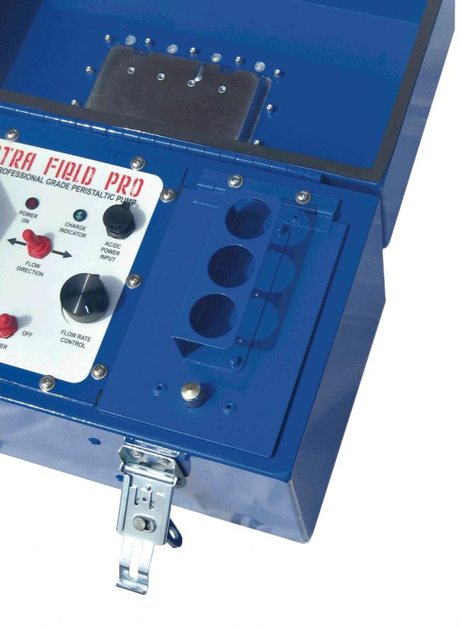 Spectra Field Pro Peristaltic Pump - sample bottle holders