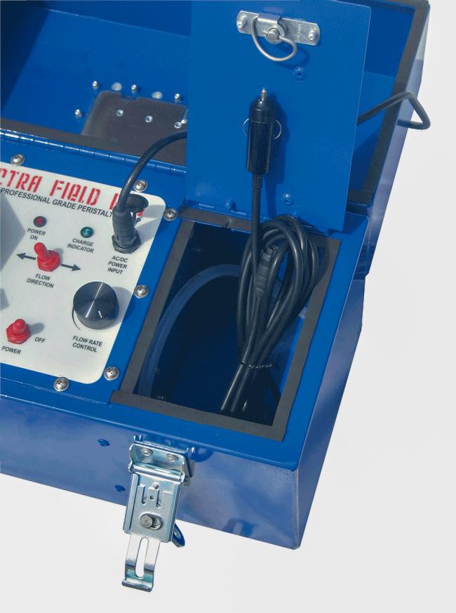 Spectra Field-Pro Peristaltic Pump - storage area