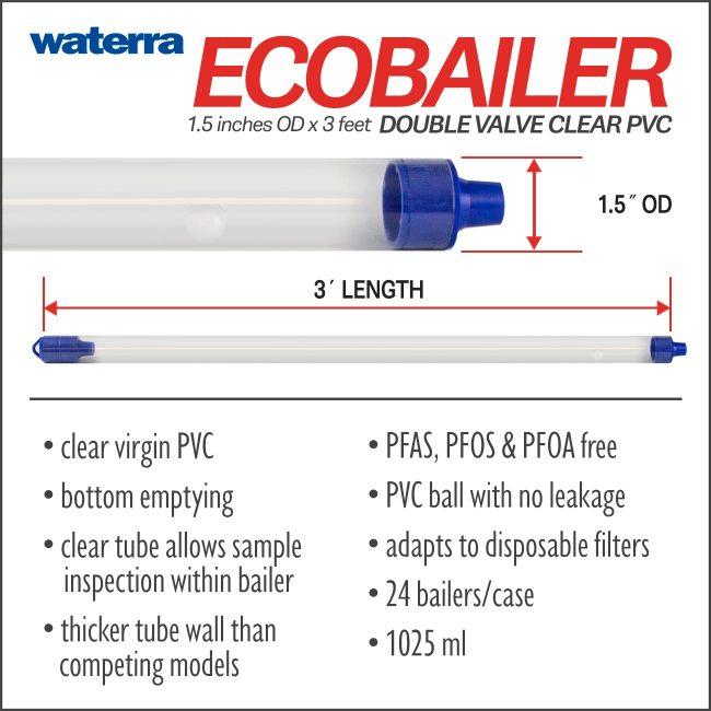 Double Valve Eco Bailer Groundwater Interval Sampler