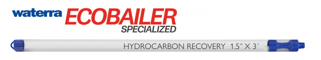 Eco Bailer Hydrocarbon Recovery Bailer carried by Waterra